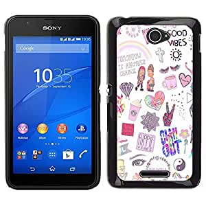 Dragon Case - FOR Sony Xperia E4 - I don't really know - Caja protectora de pl??stico duro de la cubierta Dise?¡Ào Slim Fit