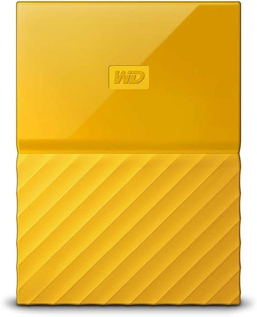 WD ポータブルHDD 4TB USB3.0 イエロー 暗号化 パスワード保護 3年保証 My Passport WDBYFT0040BYL-WESN