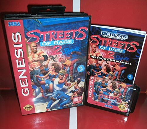 Street Of Rage 2 Us Cover With Box And Manual For Sega Megadrive Genesis Video Game Console 16 Bit Md Card US EUR shell (Street Of Rage 2 Sega Genesis)