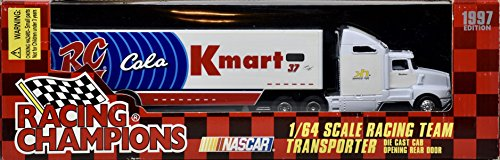 (Racing Champions 1997 NASCAR - Jeremy Mayfield #7 - RC Cola / Kmart Racing Team Transporter - 1:64 Scale Die Cast - OOP - New - Collectible)