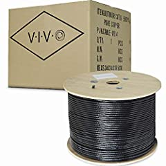 Cat6 UTP (unshielded twisted pair) PURE COPPER 23 AWG bulk ethernet cable in easy to use pull box is ideal for your network installation. Case contains 500 ft of wire in waterproof shielding for outdoor direct burial. Category 6 cable, common...