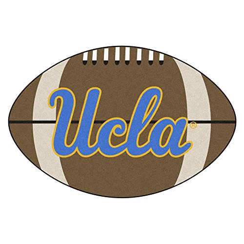 (NCAA University of California - Los Angeles (UCLA) Bruins Football Shaped Mat Area Rug)