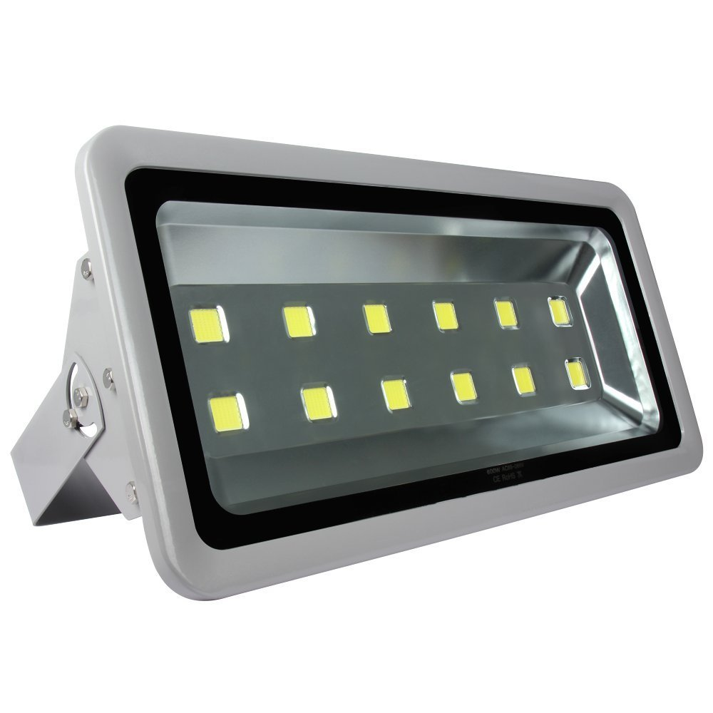 Morsen Outdoor Flood Light 600W Daylight White 6000K Ultra Bright Floodlights Parking Lot Security Commercial Lamp Fixture 85-265V by Morsen