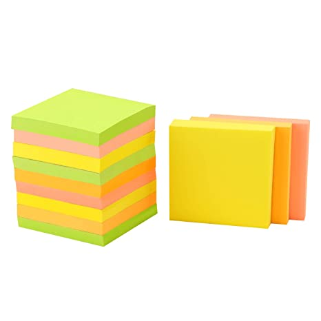 """Multi Coloured Pastel Remove It Sticky Post Notes 76mm x 76mm 3/""""x3/"""" Packs of 100"""