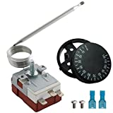 American Volt Adjustable Electric Radiator Fan Thermostat Switch Temperature Controller Probe