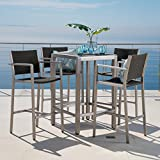 Crested Bay Patio Furniture 5 Piece Outdoor Wicker and Aluminum (Small Image)