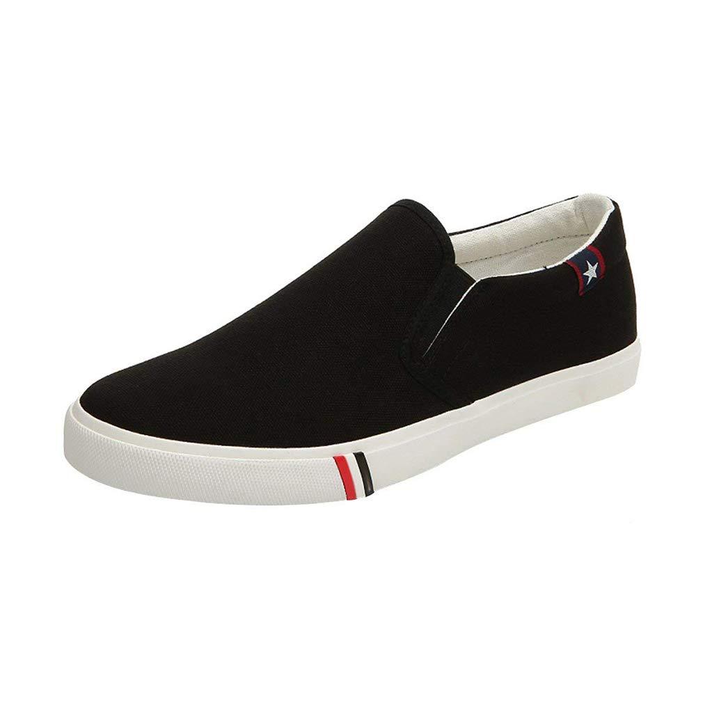 junkai Toile Hommes Femmes Toile Slip-on Chaussures Mocassins Baskets Enfiler Chaussures B000LSXRV0 Homme Casual Sports Chaussures Confort Noir M f431a6c - reprogrammed.space