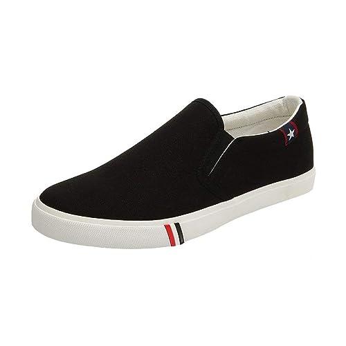 Hombres Mujeres Zapatos De Lona con Cordones Mocasines De Verano Zapatillas De Deporte para Barcos Zapatos Deportivos Ocasionales Comodidad M Negro 46: ...