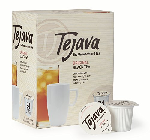 Tejava Unsweetened Original Black Tea Pods, Award-Winning Tea, 100% Recyclable Single Serve Cups | Keurig K-Cup Compatible (24 Count)