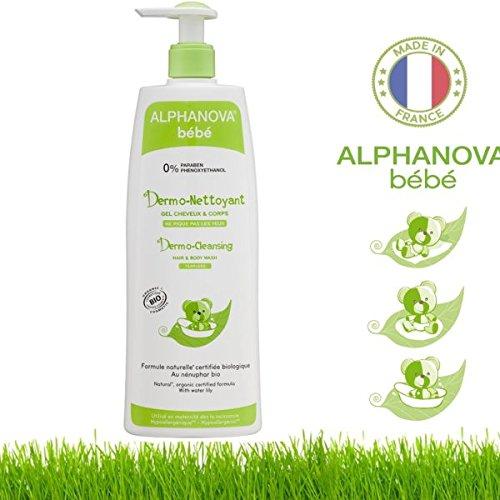 Alphanova Dermo nettoyant cheveux et corps nénuphar camomille 500ml 1683-ABIODN5