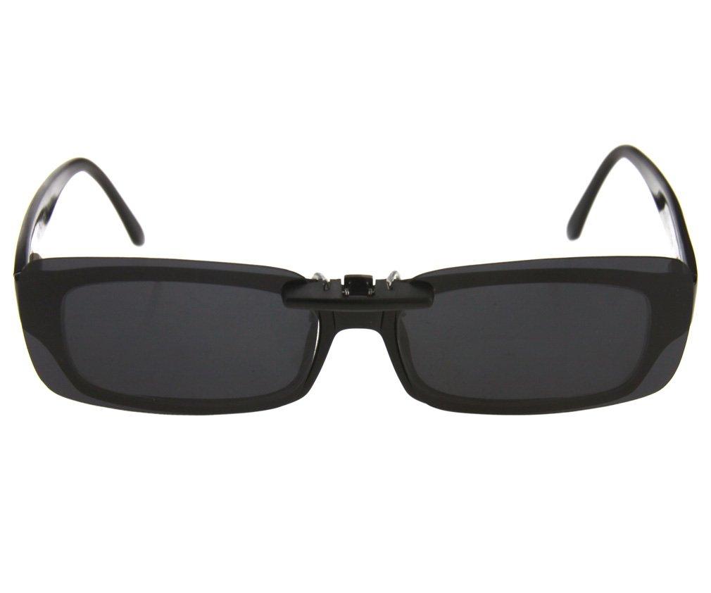 Sonnenbrillenvorhänger Clip Sonnenbrille Klappbar dunkel grau UV400 ...