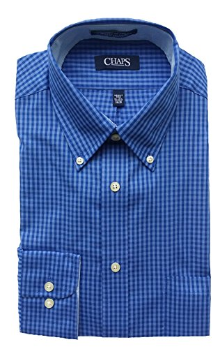 Chaps men 39 s performance classic fit plaid dress shirt for Chaps mens dress shirts