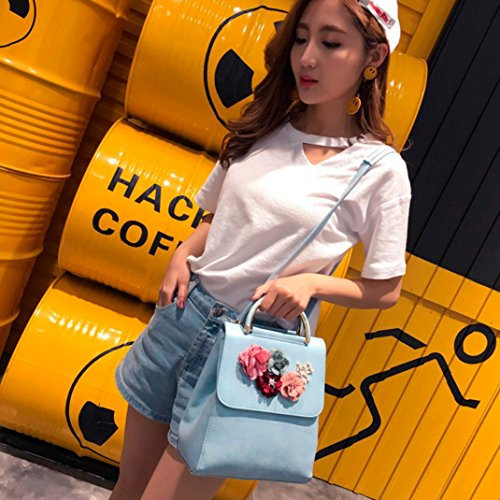 Blue Fashion Fashion Shoulder Women Bag Lnclined Black Shoulder Backpack Leather Bag SOMESUN Floral Decal Bags Backpacks x1HIZ1