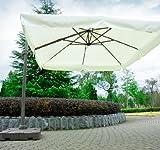 Outsunny Offset Tilt Patio Umbrella Sun Shade with Base, 10-Feet, Cream Review