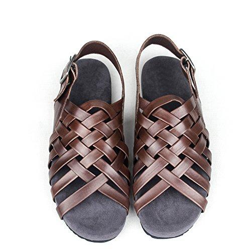 Roman woven men's sandals/Leisure Sandals trend/ men's leather Sandals/Beach shoes