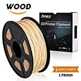 SUNLU PLA Wood 1.75 mm 3D Printer Filament,Real Wood Filament - 1kg Spool (2.2 lbs) - Dimensional Accuracy +/- 0.02mm - 100% Virgin Raw Material