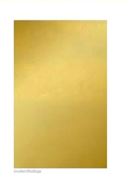 260 Yellow Brass Sheet // 18 Ga .040 6 x 12 TM Modern Findings