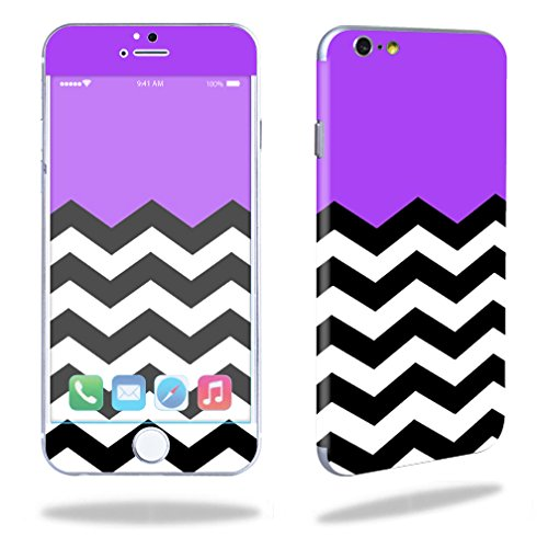 """Mightyskins Protective Vinyl Skin Decal Cover for Apple iPhone 6 Cell Phone 4.7"""" Cover wrap sticker skins Purple Chevron"""