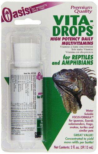 OASIS  #80268  Vita-Drops for Reptiles and Amphibians, 2-Ounce liquid multivitamins by Oasis
