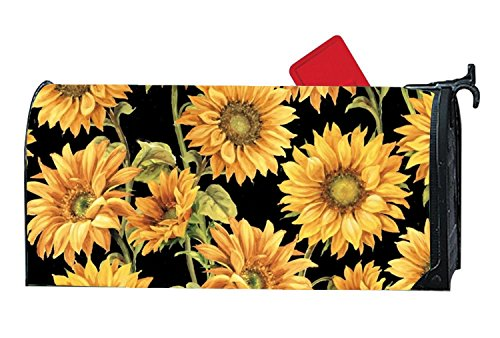BYUII Sunflowers Decorative Garden Mailbox Cover Magnetic Standard by BYUII