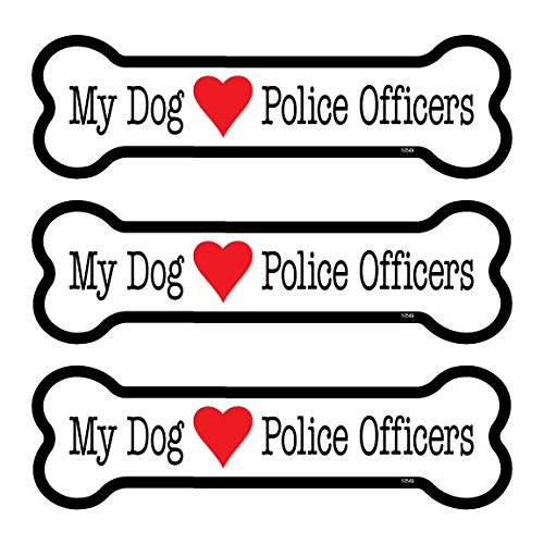 (SJT25549) My dog (loves) Police Officers 3-PACK of 2