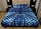Indigo Bedding Set, Shibori Indian Bedspread Queen, Tie Dye Bed Cover With Pillow Cover, Handmade Cotton Bedsheet