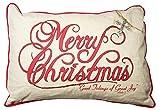 Servant's Heart Merry Christmas Pillow With Rhinestone Cross Ornament Detail 23'' x 16''