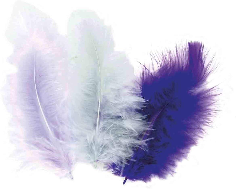 50 plumes doiseaux cama/ïeu de gris-mauve