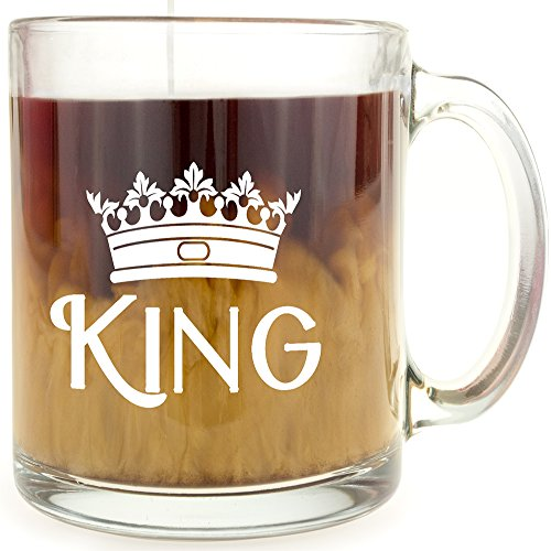 King Crown - Glass Coffee Mug - Makes a Great Gift!