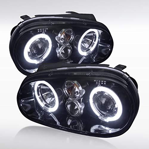 Autozensation For Volkswagen Golf GTI MK4 [Glossy Black] Halo Projector Headlights