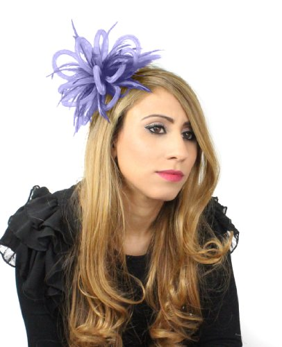 Mini Crin Feather Fascinator - Lilac by Hats By Cressida