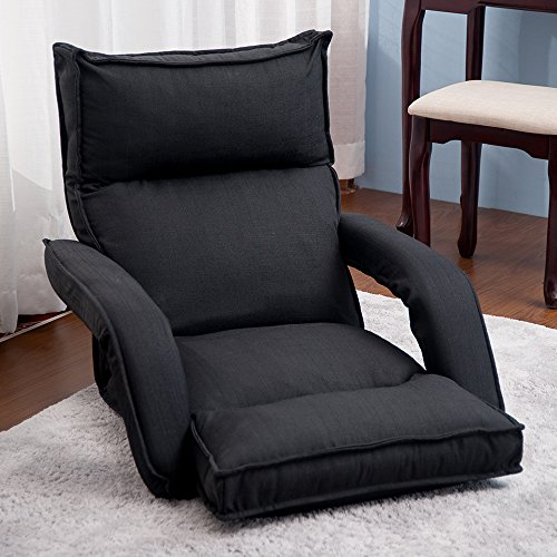 Merax Adjustable Fabric Folding Chaise Lounge Sofa Chair Floor