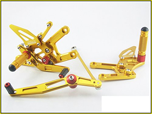 2006-2014 Yamaha YZF-R6 Area 22 CNC Adjustable Rear Sets Gold Rearset R6 (Racing Rear Sets)