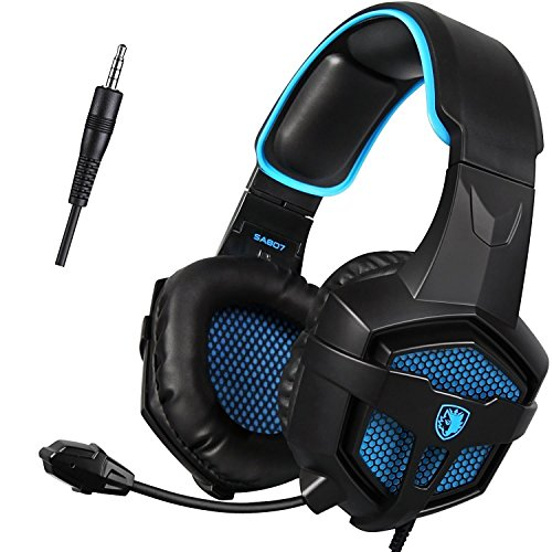 GW-SADES-SA807-PS4-PlayStation-4-Stereo-Gaming-Headset-Headphones-Over-Ear-with-Mic-Volume-Control-for-Xbox-OnePCMacSmartphoneLaptopBlackBlue