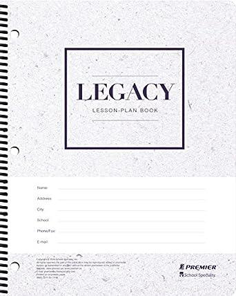 Amazon.com: Premier Legacy Agenda semanal de lecciones, 256 ...