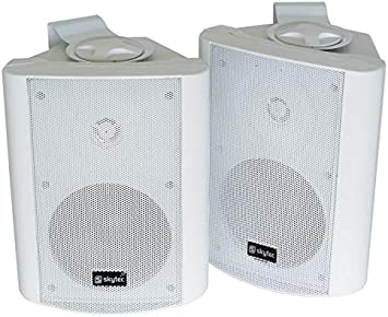Skytec 100.020 Altavoz 100 W Blanco - Altavoces (De 2 vías, 2.0 Canales, Alámbrico, 100 W, 70-20000 Hz, Blanco)