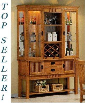 Amazon Com Coaster Mission China Cabinet Free Wine Rack