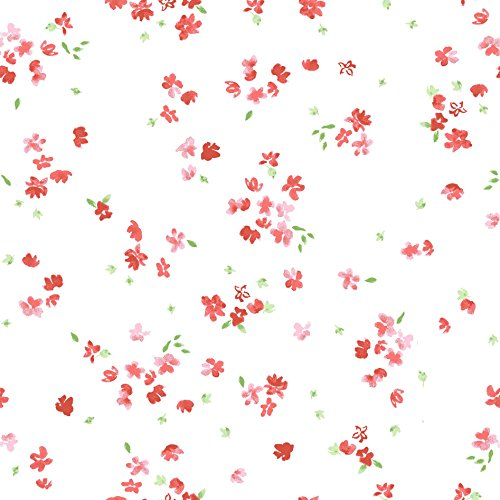Stitch & Sparkle Fabrics, Watercolor Floral, Small Watercolor Flowers Cotton Fabrics, Quilt, Crafts, Sewing, Cut by The - Cotton Quilt Flowers Fabric