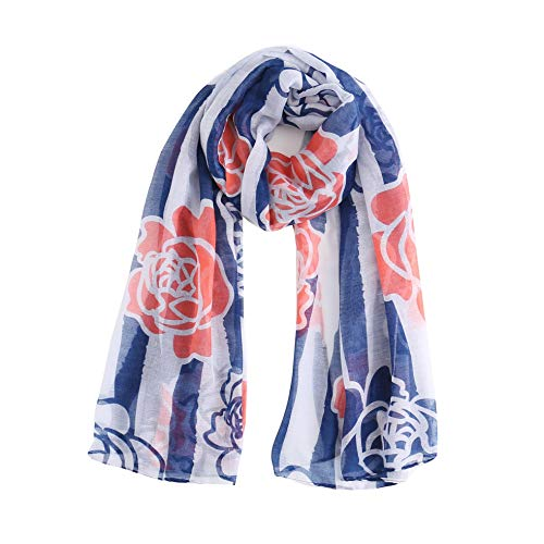 426JingYu Large Soft Shawl Wrap Scarf,Large Sunscreen Shawls Wraps Lightweight Pattern Shawl Scarf Scarves Blue
