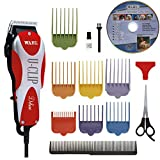 Wahl Professional Animal Deluxe U-Clip Pet, Dog, and Cat Clipper and Grooming Kit (#9484-300)