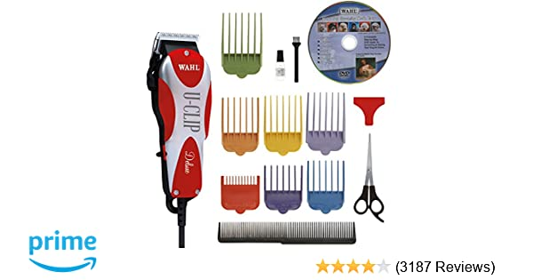 6d519909e1 Pet Grooming Clippers   Amazon.com  Wahl Professional Animal Deluxe U-Clip  Pet Clipper and Grooming Kit ( 9484-300)