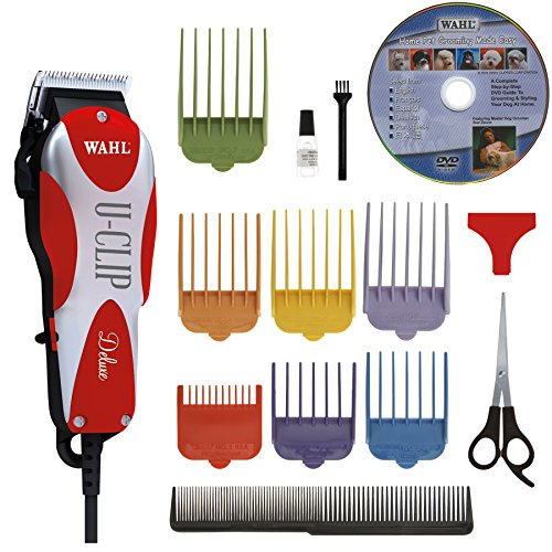 Wahl Professional Animal Deluxe U-Clip Pet, Dog, & Cat Clipper & Grooming Kit (#9484-300) (Best Cat Grooming Clippers)