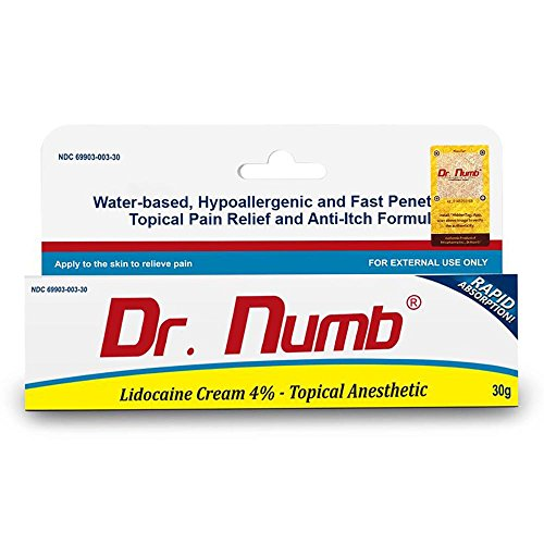 Dr. Numb Lidocaine Cream 4% Topical Anesthetic, 30 Gram (1)