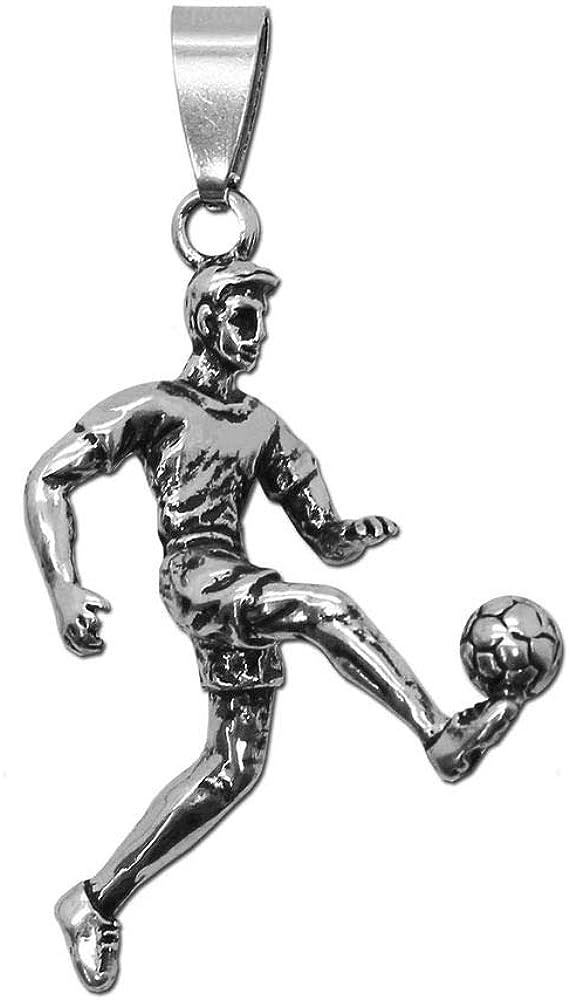tumundo Colgante Deporte Fútbol Jugador Pelota para Collar Cadena ...