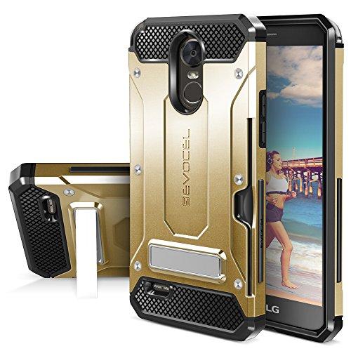LG G Stylo 3 Case, Evocel [Explorer Series Pro] Premium Dual Layer Hybrid Protector [Metal Kickstand][Credit Card Slot] For LG G Stylo 3 (2017 Release) , Gold Medal (EVO-LGSTYLO3-CK15)