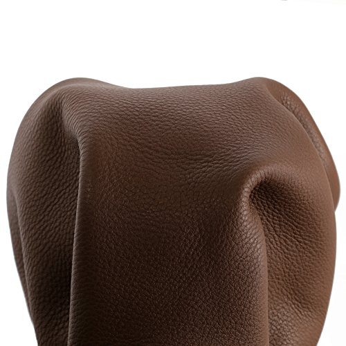 Tan Aniline Leather (Cow Leather Hide Skin 22-24 Square Feet Mid Brown Cognac Tan Natural Soft Aniline Naked Regency 3.5-4.0 oz 1.4 mm Genuine Cowhide Side NAT Leathers)