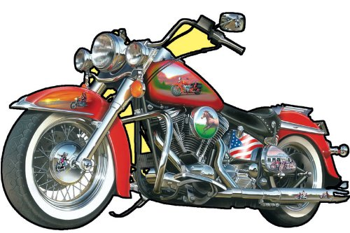 Sunsout Fast Lane Motorcycle Shaped 1000 Piece Jigsaw Puzzle