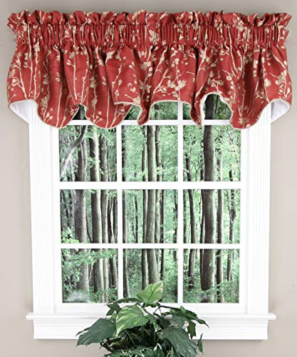 (Simple Comfort Meadow Textured Open Floral Pattern (Scallop Valance, 50 x 15