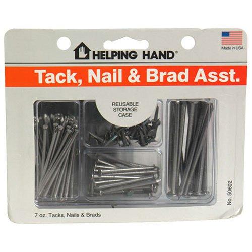 Aider Tack main, assortiment Nail & Brad Plus Etui de rangement réutilisable - 7 oz