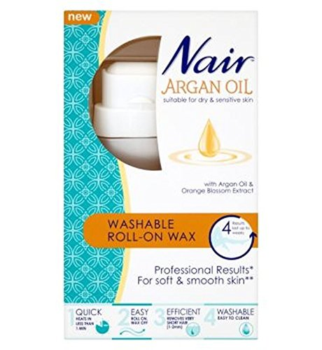 Nair Washable Roll-On Wax With Argan Oil & Orange Blossom...